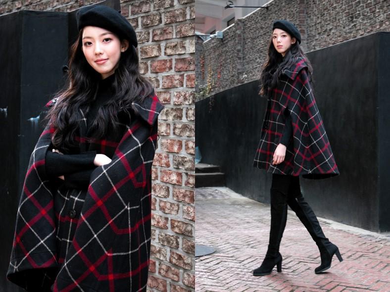 신인 모델 김민성의 '러블리 뿜뿜' 케이프 코트 스타일링