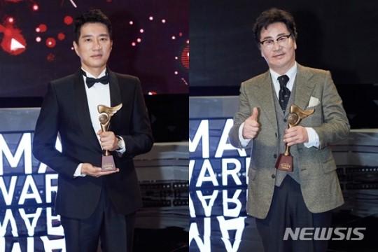 '2018 KBS 연기대상' 대상은 유동근·김명민...4년 연속 공동 수상(종합)