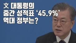[자막뉴스] 文 대통령의 중간 성적표 '45.9%'...역대 정부는?