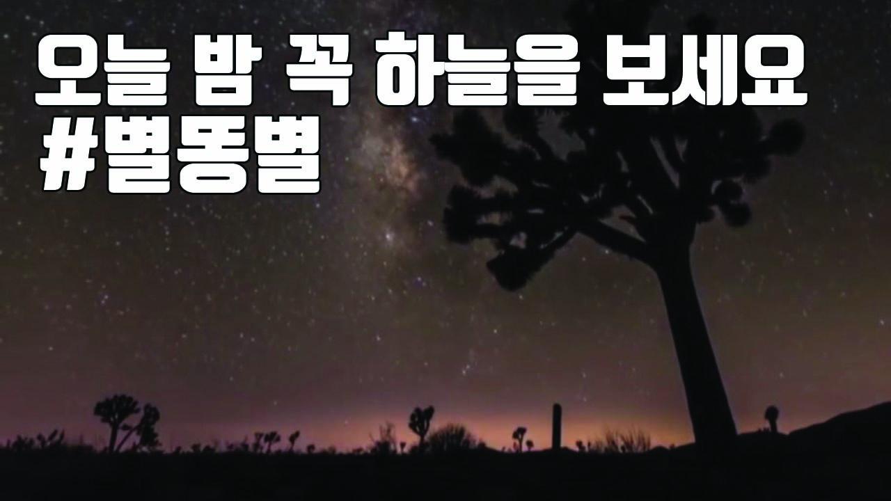 [자막뉴스] 오늘 밤~내일 새벽 꼭 하늘을 봐야 하는 이유 #별똥별