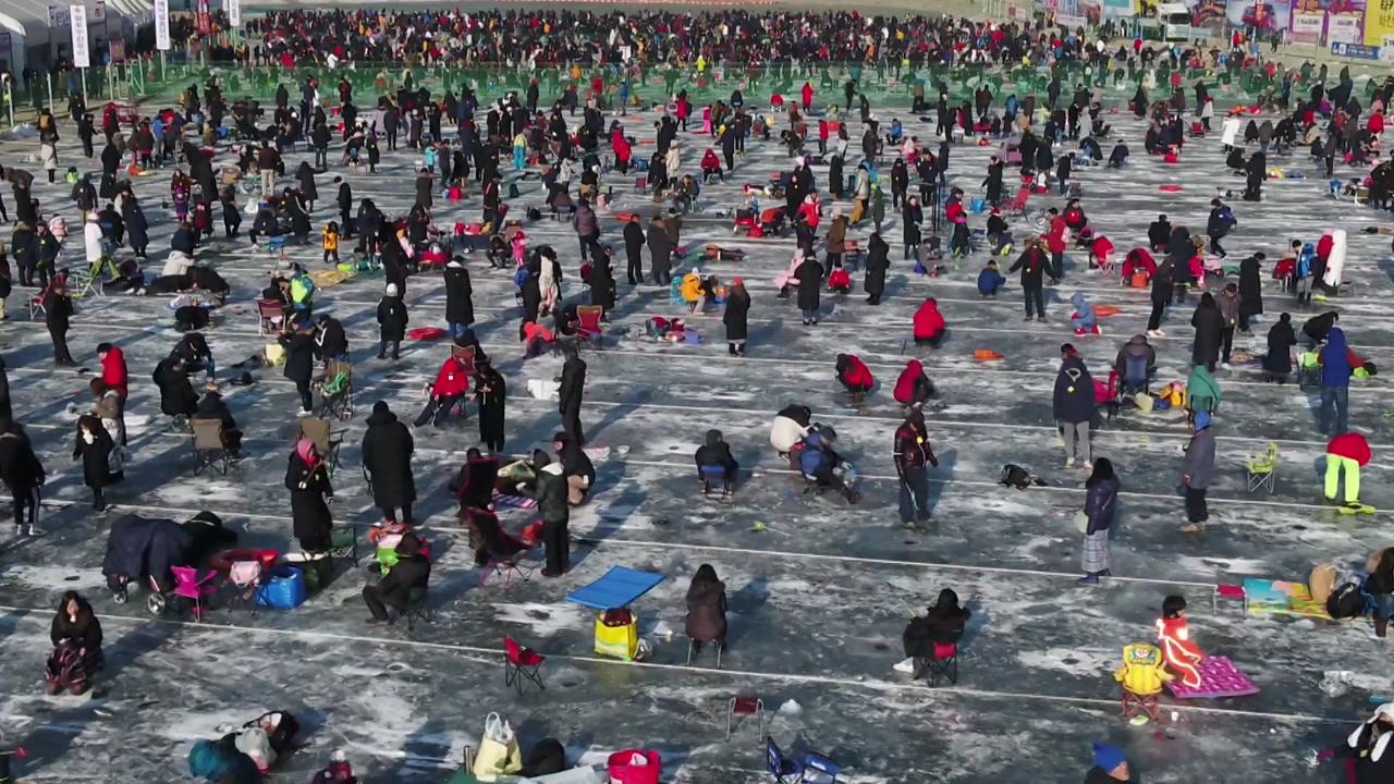 '2만 개 구멍에 80만 마리'...화천 산천어축제