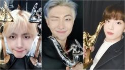 """""""아미 감사해요""""…방탄소년단, 골든디스크 음반 대상 수상 소감"""