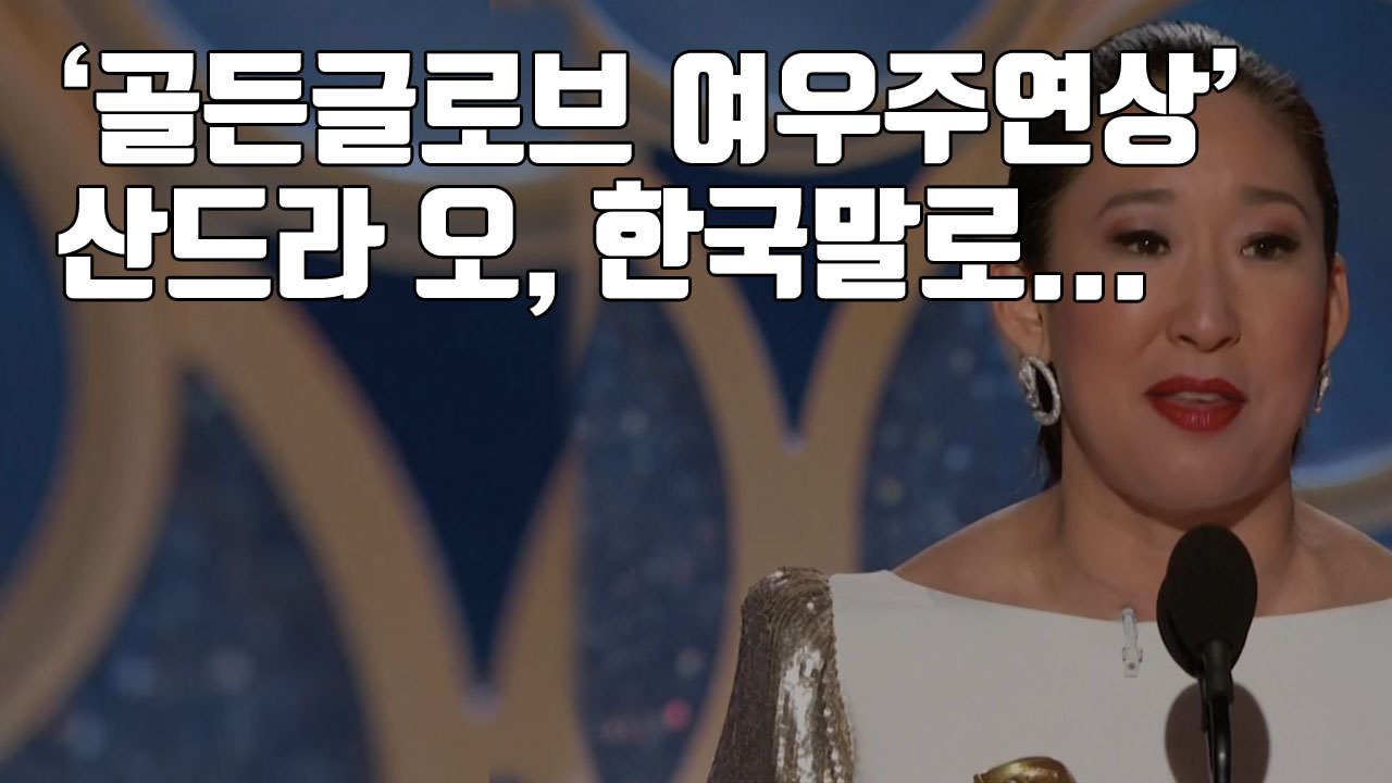 [자막뉴스] '골든글로브 여우주연상' 산드라 오, 무대에서 한국말로...