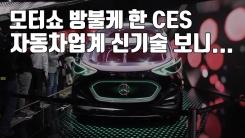[자막뉴스] 모터쇼 방불케 한 CES, 자동차업계 신기술 보니...