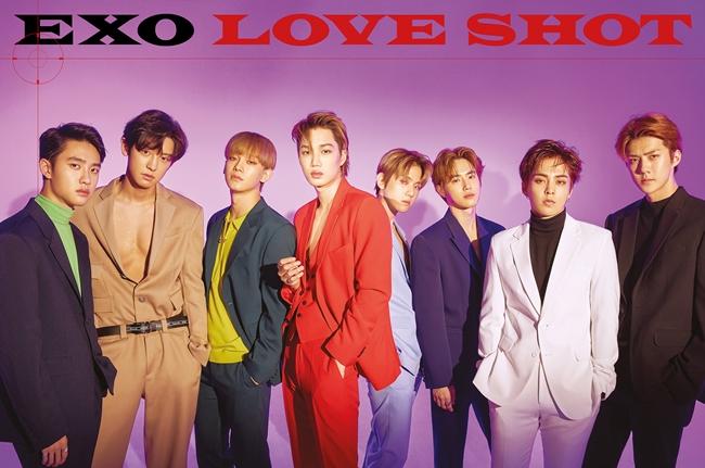 엑소, 리패키지 'LOVE SHOT'으로 12월 월간 앨범 차트 1위 석권
