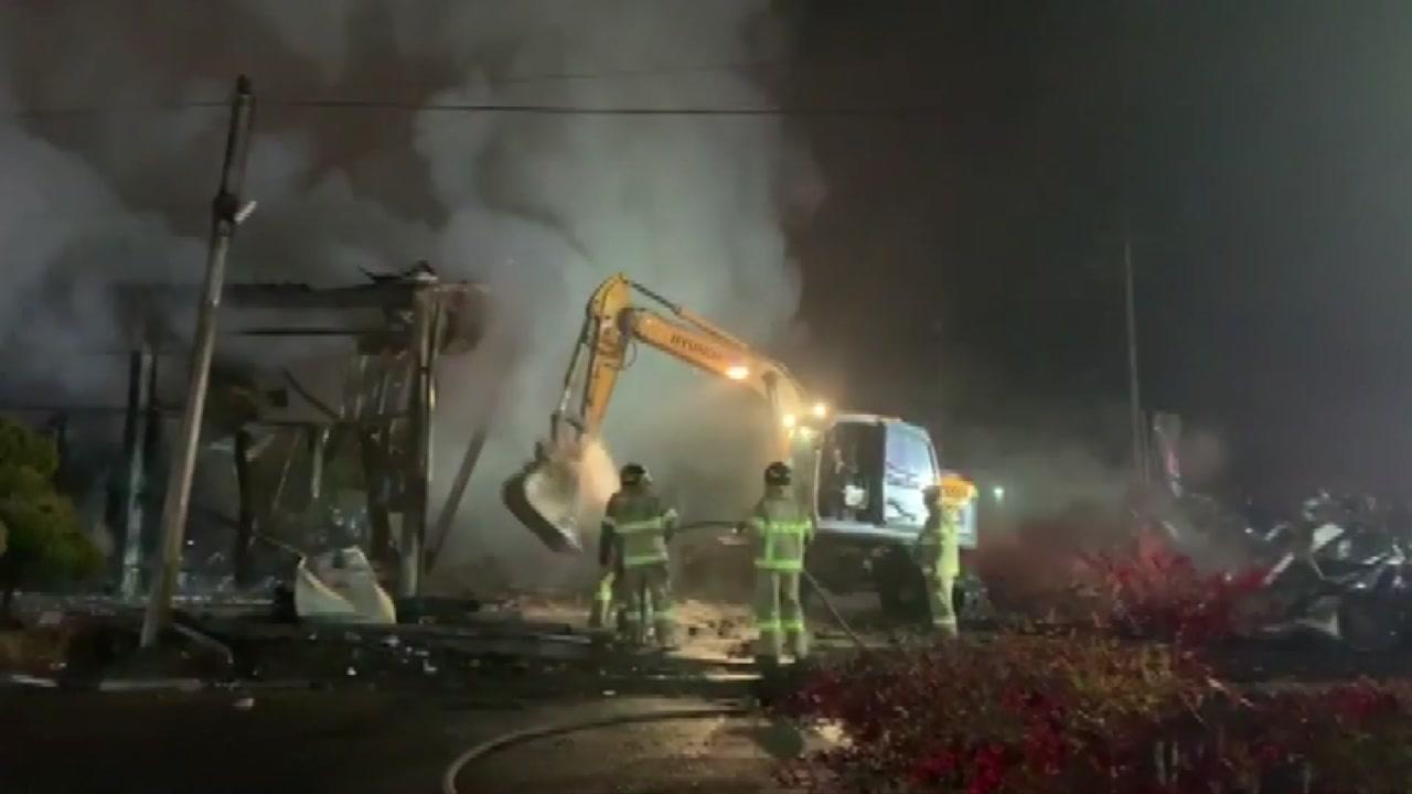 진주 버섯농장 화재...1억 3천만 원 피해