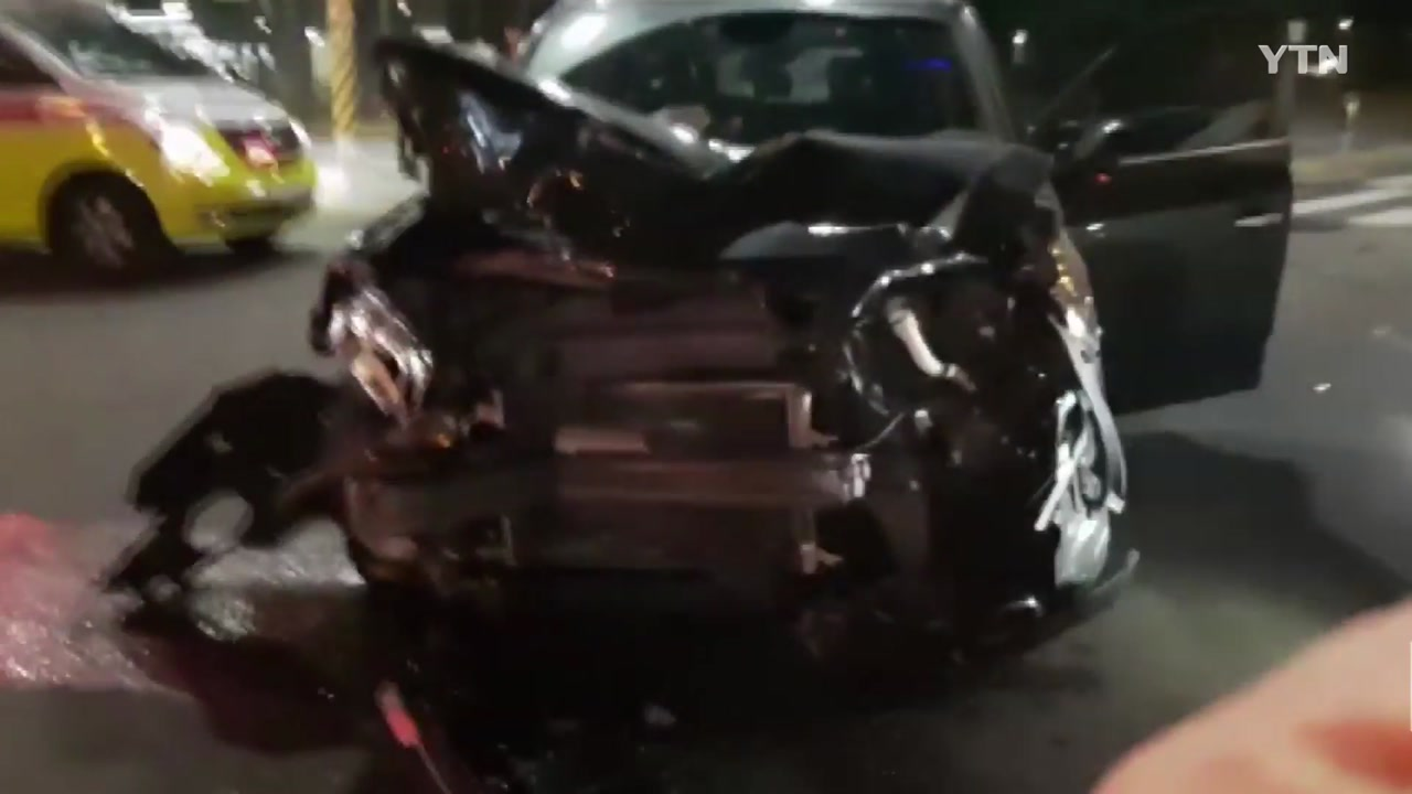 청주 청원구서 음주 차량 사고...2명 부상
