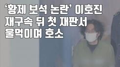 [자막뉴스] '황제 보석 논란' 이호진, 재구속 뒤 첫 재판서 울먹이며 호소