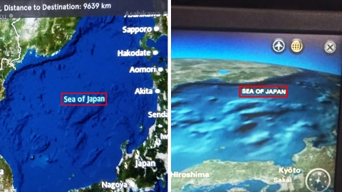 여전히 '동해'를 '일본해'로 표기하는 항공사들