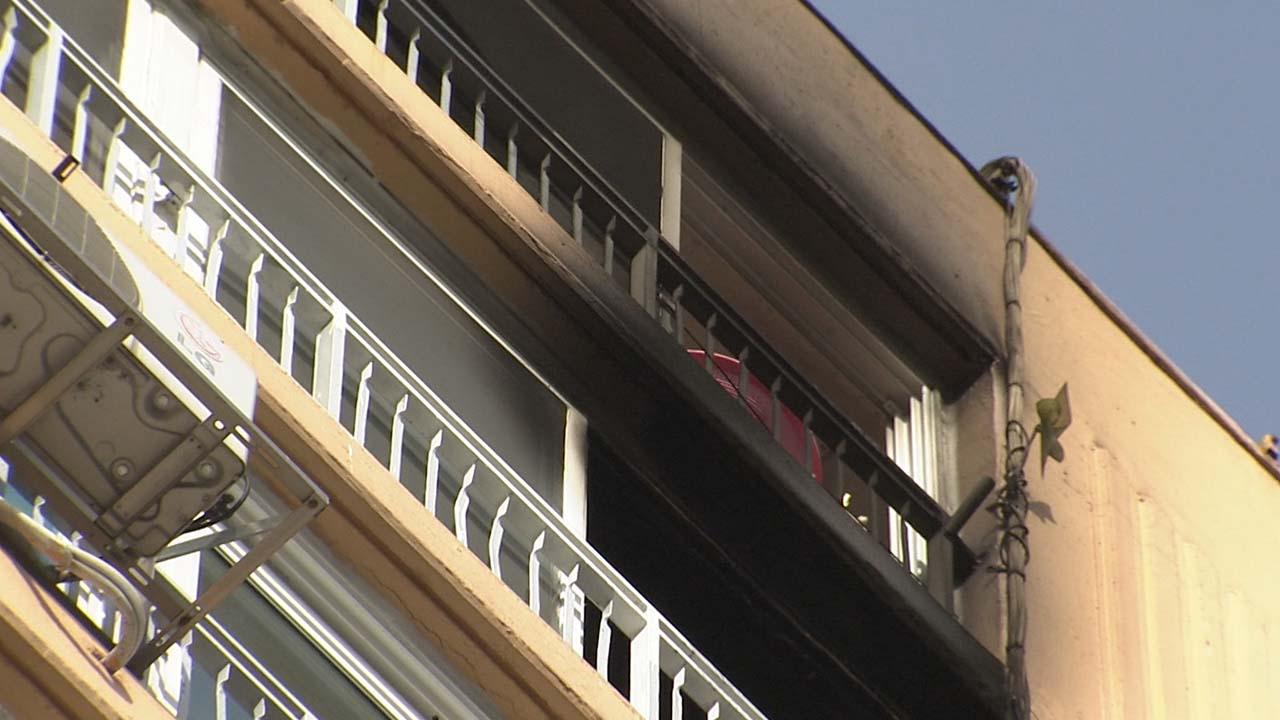 광주 아파트에 불...불길 피하려던 60대 추락사