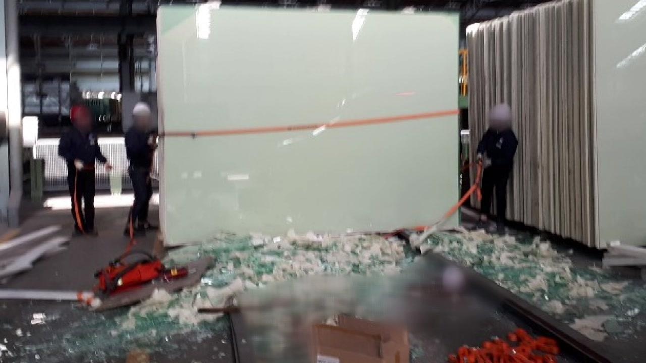 KCC 여주공장서 50대 근로자 대형 유리판에 깔려 숨져