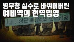 [자막뉴스] 현역 병사에 '상근예비역' 통지한 병무청