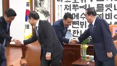국회의장·여야 5당 원내대표 회동…여야 이견 여전