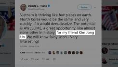 """트럼프 """"번영하는 베트남 北에 본보기""""...비핵화 압박"""