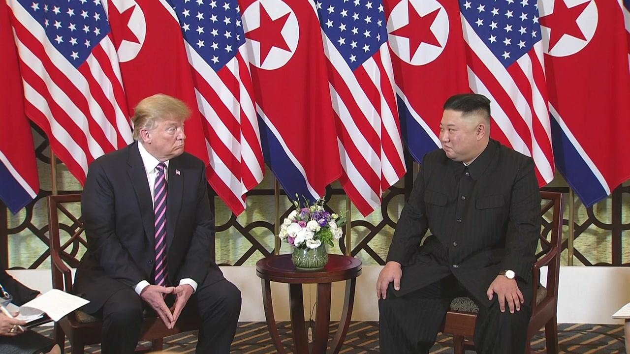 """[현장영상] 트럼프 """"다시 만나 영광""""...김정은 """"좋은 결과 확신"""""""