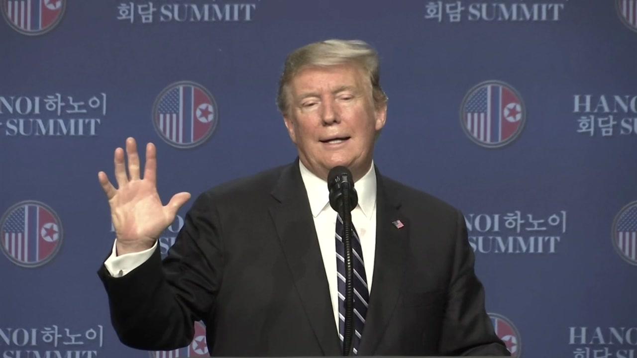 [북미정상회담 현장영상] 트럼프, 합의 실패 배경 설명