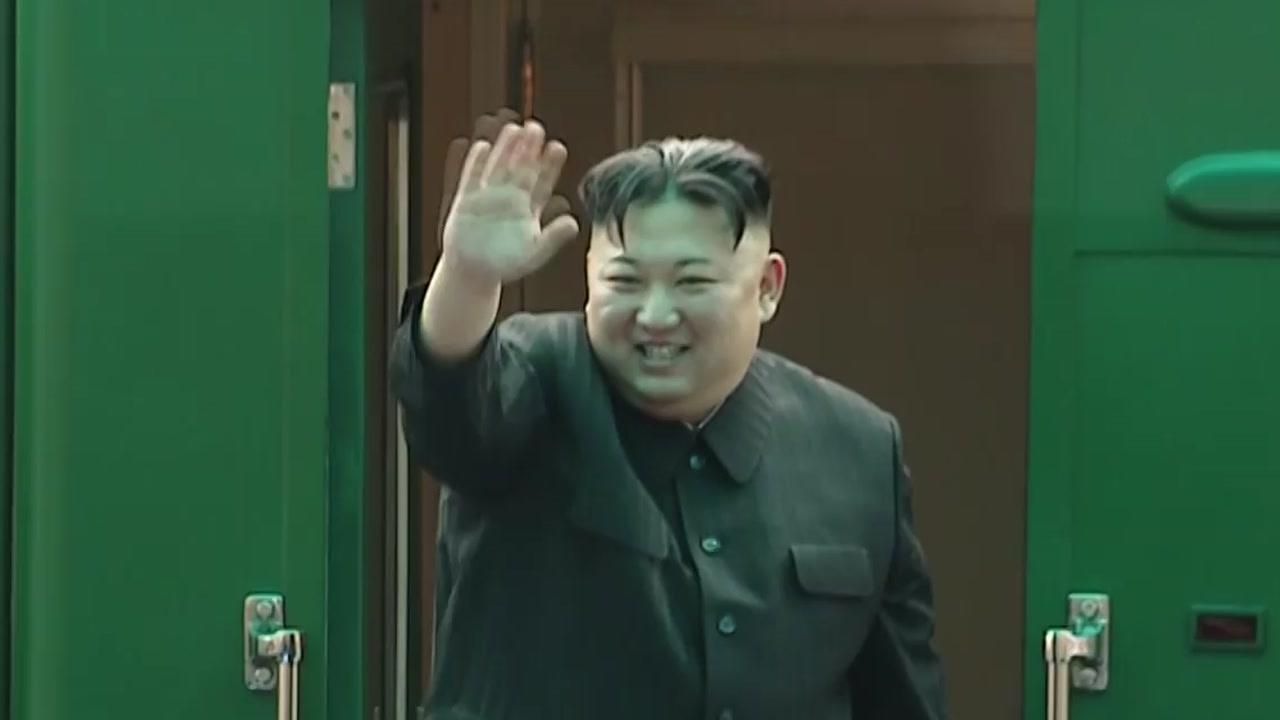 김정은 열차, 中 진입...평양 직행 가능성