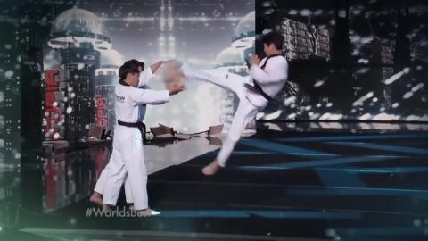 국기원 태권도 시범단, 미국 경연프로그램서 '승승장구'
