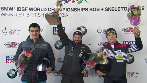 윤성빈, 스켈레톤 세계선수권 3위...전 대회 메달