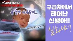 [제보이거실화냐] 구급차에서 태어난 아기 실화냐? 119구조대가 지킨 두 생명!
