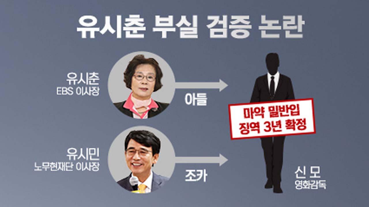 """유시춘 아들 마약 혐의 실형...""""부실 검증 vs 절차 문제 없어"""""""