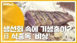 [자막뉴스] 생선회 속에 기생충이?...日 식중독 '비상'