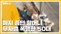 [자막뉴스] 폐지 줍던 할머니, 무차별 폭행한 50대 구속