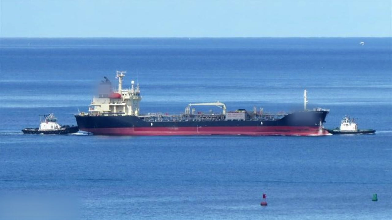 '불법 환적' 의심 한국 선박, 부산항 억류