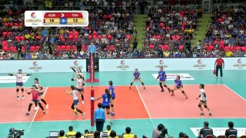 여자배구 올스타 슈퍼매치 태국에 3:0 승리