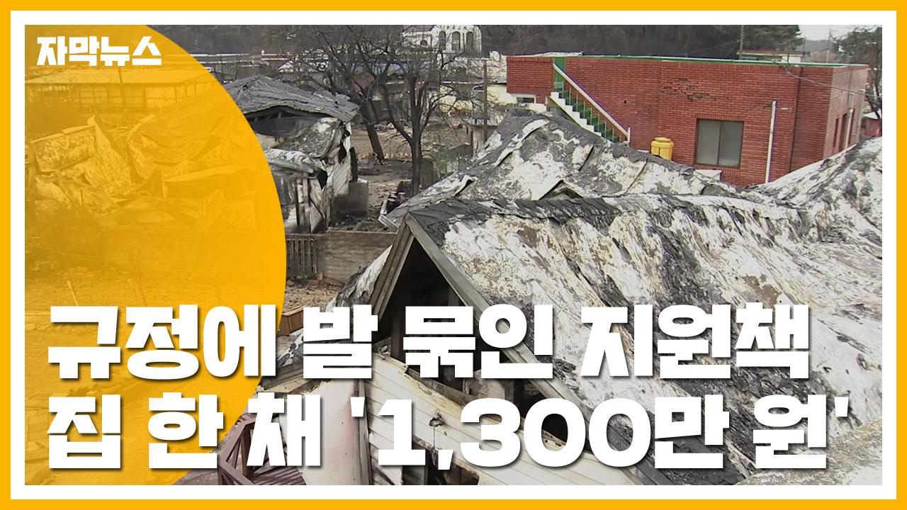[자막뉴스] 규정에 발 묶인 지원책...집 한 채 '1,300만 원'