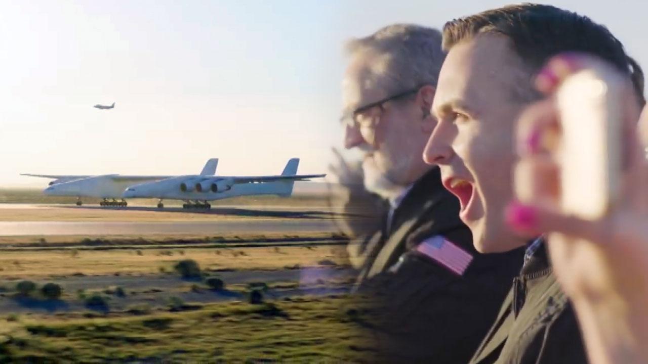 날개 길이만 117m...세계 최대 제트기 비행
