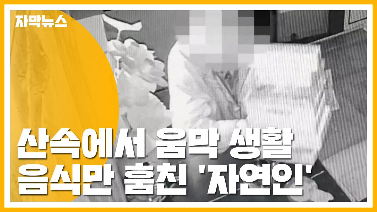 [자막뉴스] 산속에서 움막 생활...음식만 훔친 '자연인'