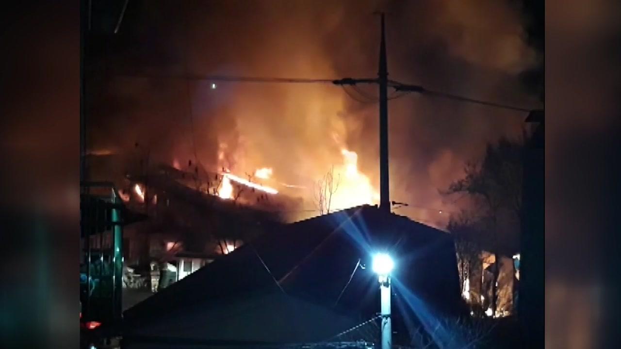 경기 광주 오포읍서 불...창고 3동 전소
