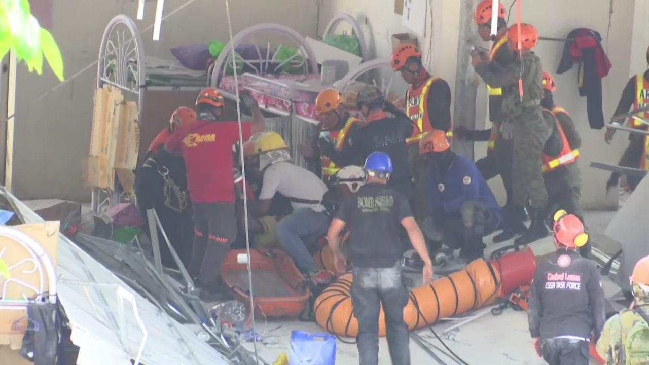 필리핀 지진 현장에서 구조 총력...사상자 늘어