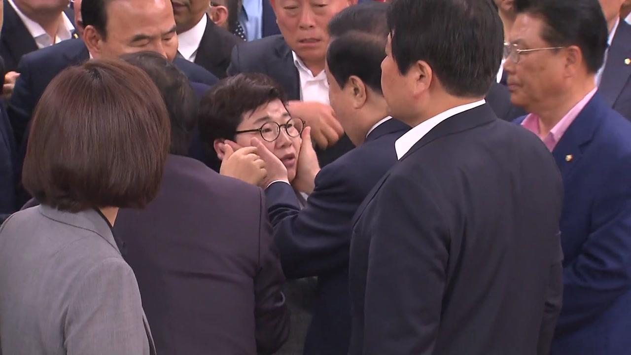 몸싸움·성희롱 공방에 폭로 난타전...난장판된 국회