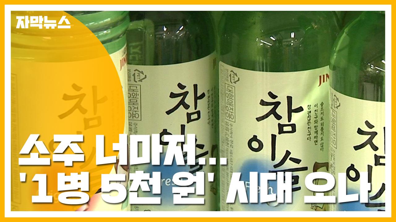 [자막뉴스] '1병에 5천 원?'...소주 출고가 인상