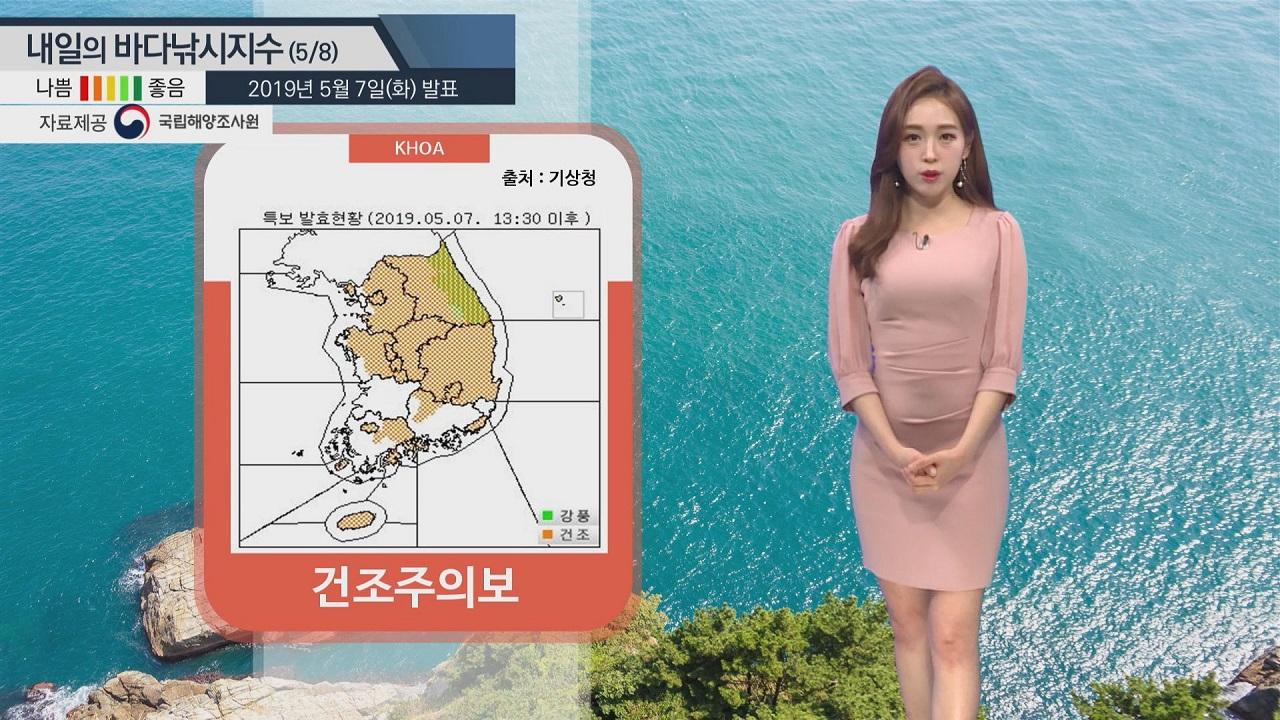 [내일의 바다낚시지수] 5월8일 출조하기 좋은 날 하지만 건조한 날씨 피부 호흡기 주의해야
