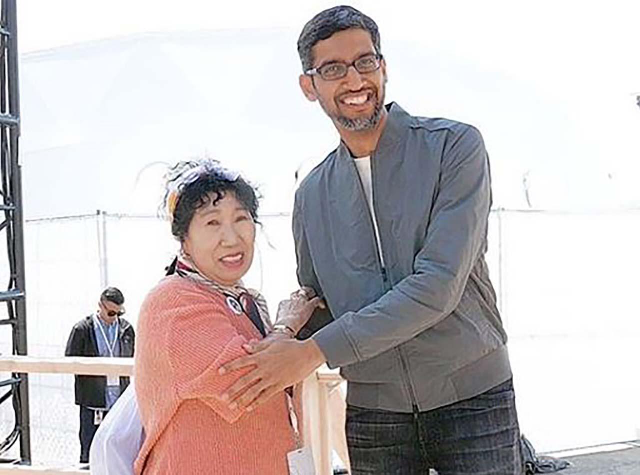 박막례 할머니, 유튜브 CEO 이어 구글 CEO도 만났다