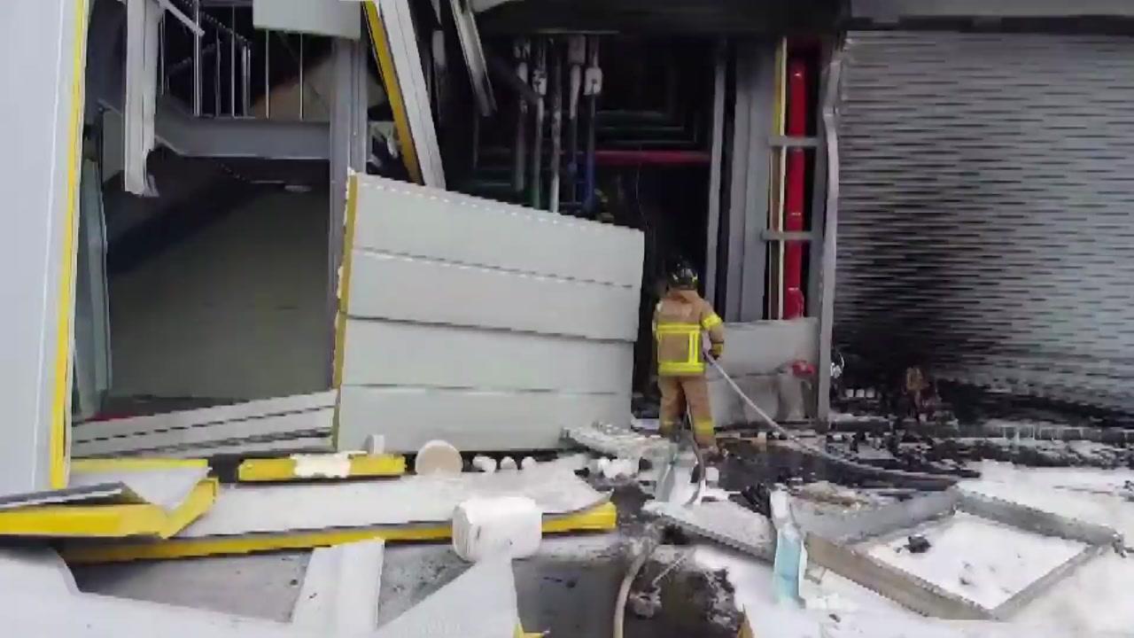 제천 휴대폰 부품 공장서 폭발...4명 사상