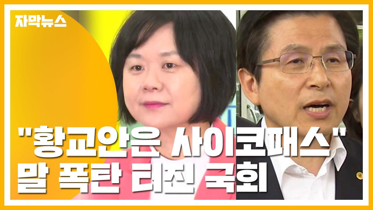 """[자막뉴스] """"황교안은 사이코패스""""...말 폭탄 터진 국회"""