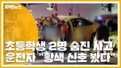"""[자막뉴스] 초등학생 2명 숨진 사고...운전자 """"황색 신호 봤다"""""""