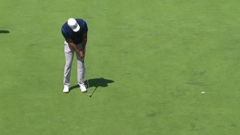 타이거 우즈, PGA 챔피언십 첫날 2오버파...켑카, 단독 선두