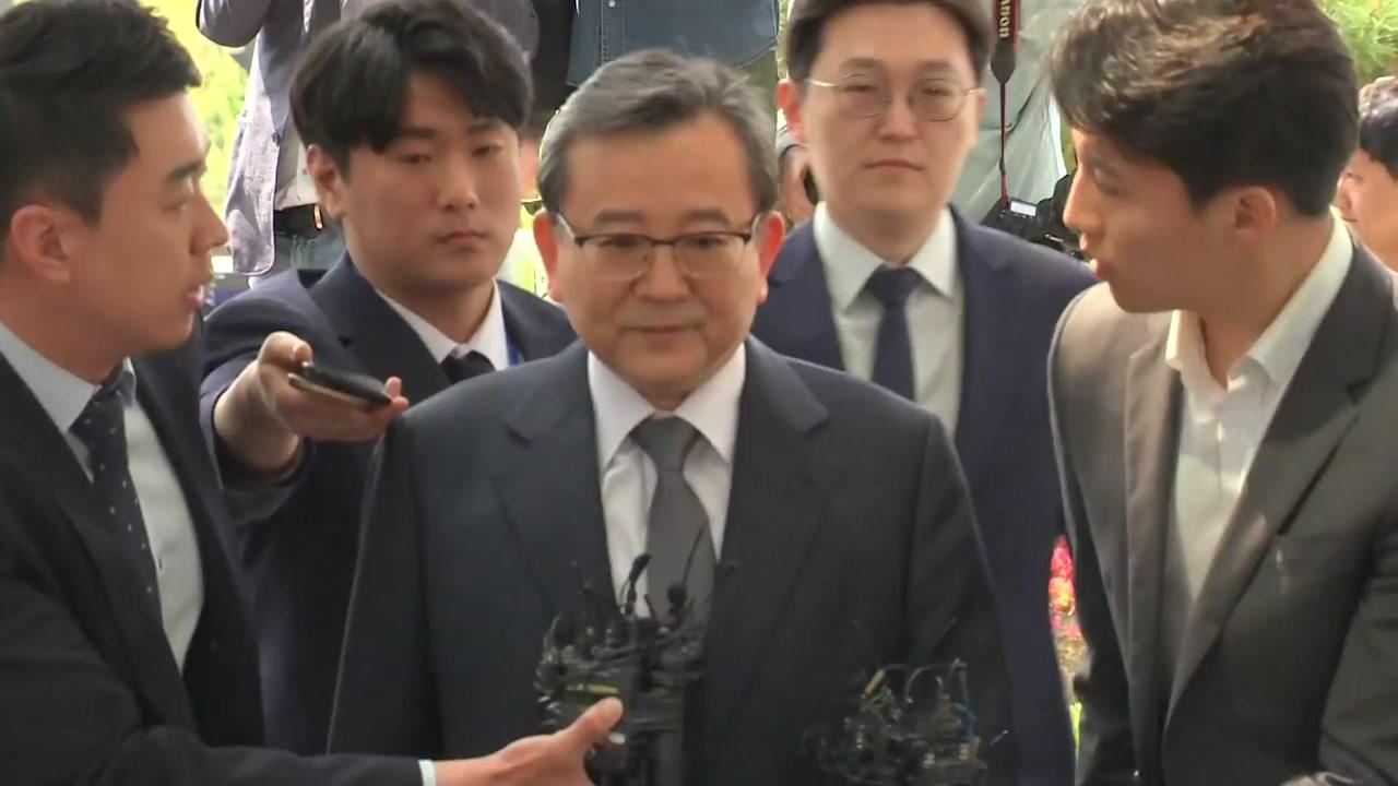 김학의, 구속 후 첫 소환...2시간 째 검찰 조사