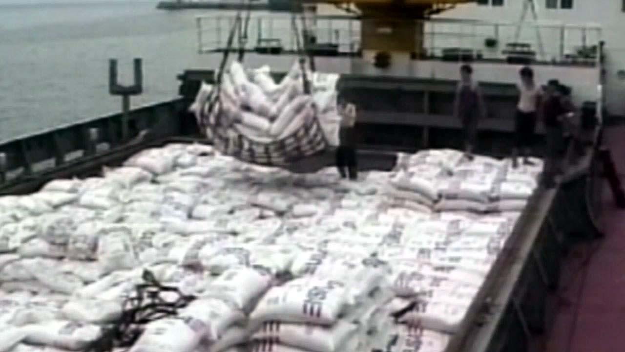 中, 지난해 한반도 평화 분위기속 북한에 쌀·비료 지원