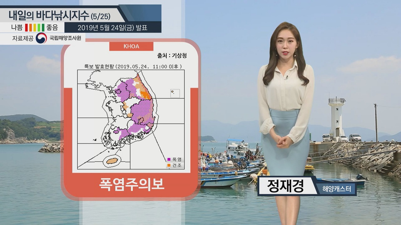 [내일의 바다낚시지수]5월25일 낮 최고 기온 '35도 이상' 주말 낚시 폭염 대비 해야
