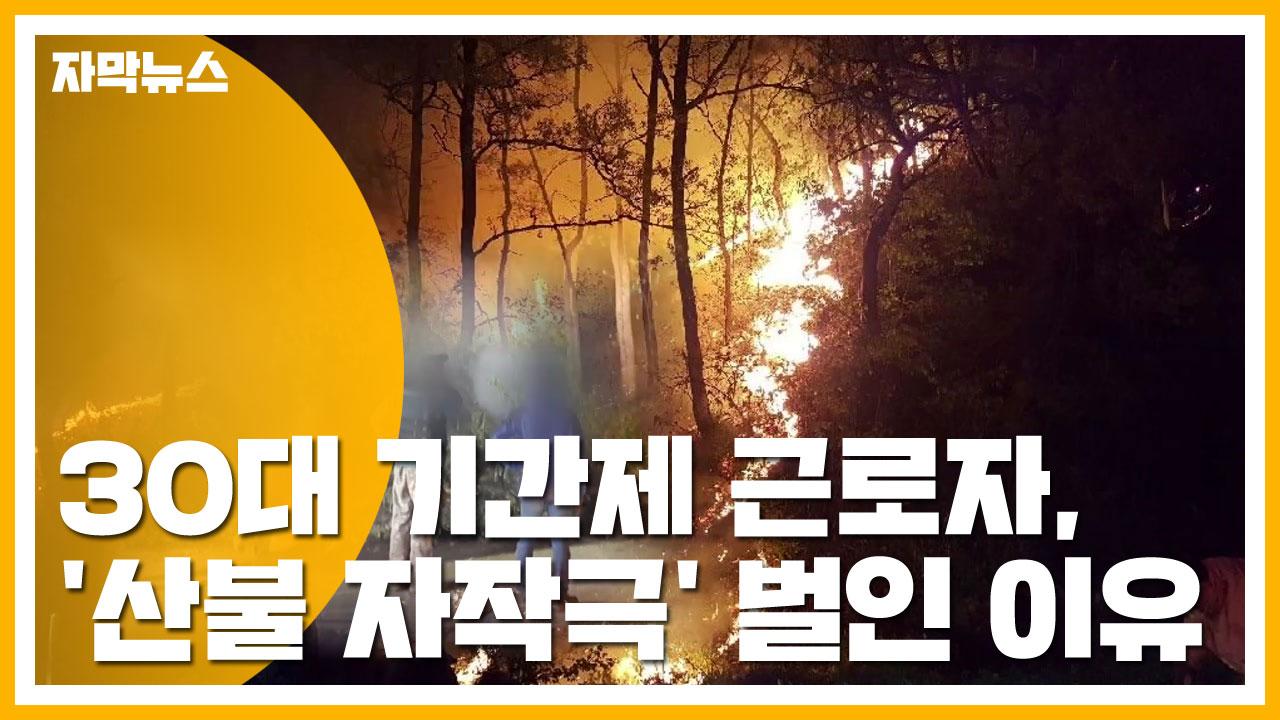 [자막뉴스] 30대 기간제 근로자, '산불 자작극' 벌인 황당 이유
