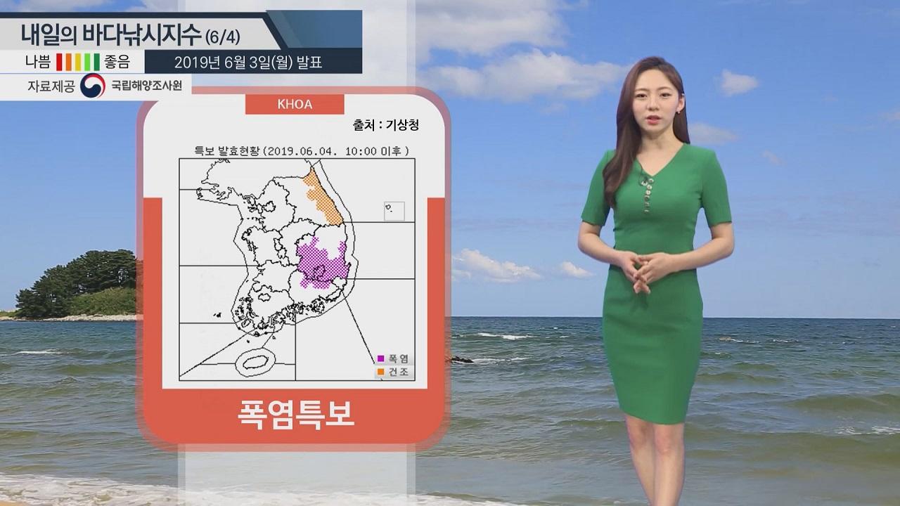 [내일의 바다낚시지수]6월4일 폭염주의보 무더운 날씨 이어지나 바다지수 원활한 흐름 보여