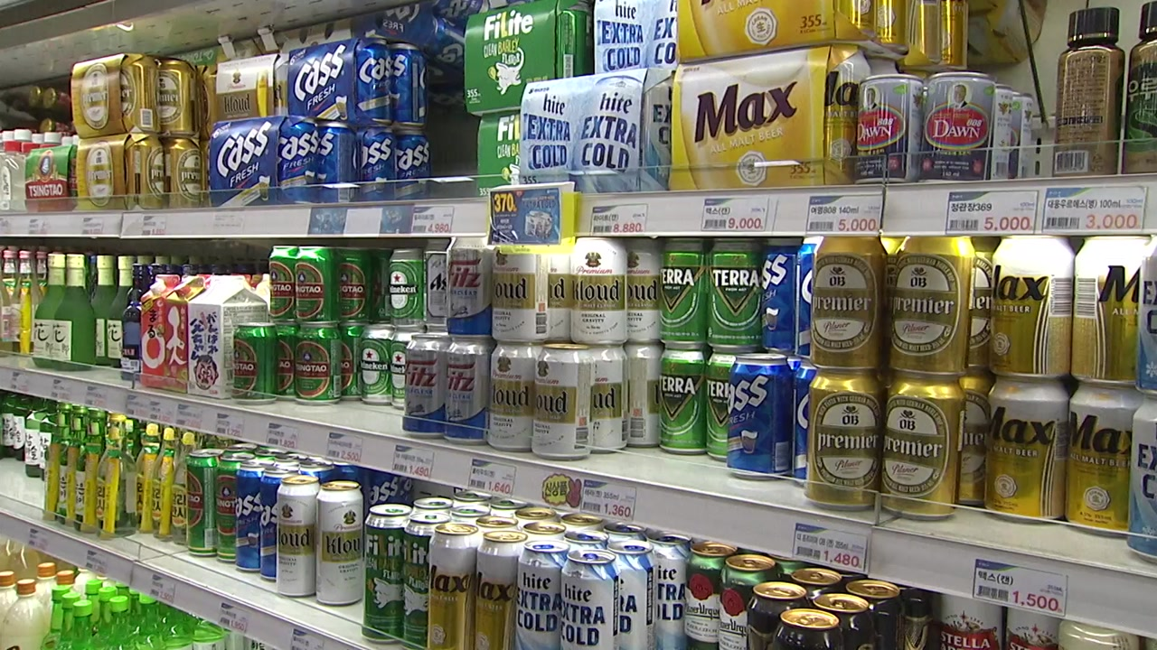 50년 만에 주세 개편...국산 캔 맥주 가격 100∼150원↓