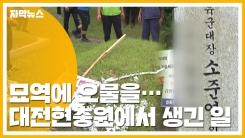 [자막뉴스] 묘역에 오물을...현충일 현충원에서 생긴 일