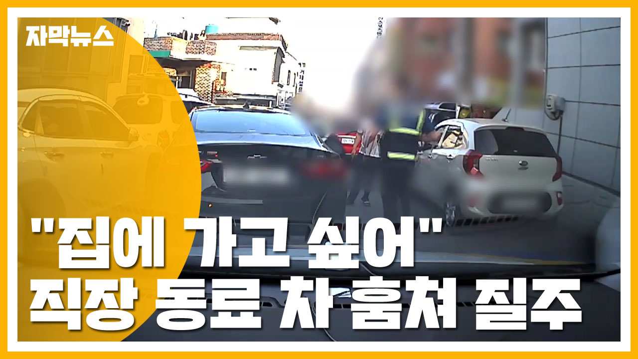 """[자막뉴스] """"집에 가고 싶어"""" 직장 동료 차 훔쳐 광란의 질주"""